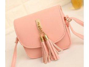 Moderní dámská kabelka s třásněmi přes rameno růžová béžová šedá nebo černá barva výprodej