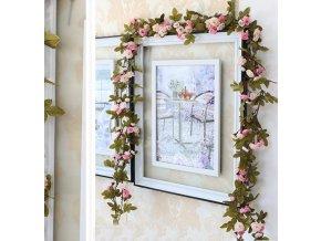 230 cm dlouhá květinová výzdoba dekorace z umělých květin