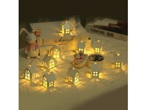 Vánoční dekorace - vánoční světýlka na okna domeček 1,5m
