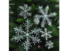 Vánoční dekorace- Sněhové vločky jako dekorace nebo na stromeček 30ks