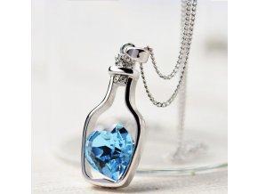 Dárky pro ženy- šperky, řetízek s přívěškem- srdce více barev