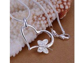 Dárky pro ženy- stříbrný řetízek se srdcem- Nápad na dárek pro přítelkyni k Vánocům nebo výročí