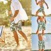 Pánské plavky, šortky s listy