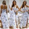 Dámské plážové letní dlouhé šaty s rozparky a květy- 3 barvy