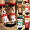 Dívčí vánoční ponožky- ponožky s vánočním motivem pro dívky a ženy