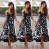 Dlouhé letní šaty se vzory a ramínky AKCE (Velikost XL)