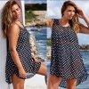 Letní plážové šaty s puntíky AKCE až 3XL (Velikost XXXL)