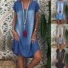 Dámské oblečení - šaty - džínové šaty - denim - léto - letní džínové  pohodlné šaty