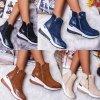 Boty - dámské boty - dámské kotníkové tenisky na zip - tenisky - dámské tenisky