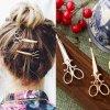 Sponka - účes - krásná sponka do vlasů ve tvaru nůžek - nůžky - dárek pro ženu