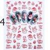Nehty - ozdobné vánoční samolepky na nehty - vánoce - modeláž nehtů