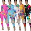 Oblečení - tepláky - dámské  módní tepláková souprava se vzorem cákanců - tepláková souprava - mikina