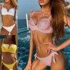 Plavky - dámské plavky - sexy push up plavky zdobené kamínky ve třech barvách - dvoudílné plavky - výprodej skladu
