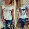 Dámské fashion tričko ANGEL bílé + poštovné zdarma (Velikost XL)