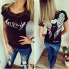 Dámské fashion tričko ANGEL černé + poštovné zdarma (Velikost XL)