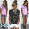 Letní tričko s kamufláží (Barva Růžová, Velikost XXL)