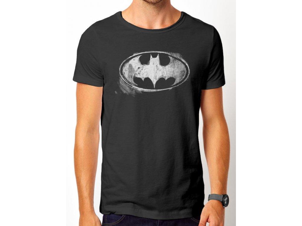 33cc06fbc5 Tričko Batman - Logo Mono Distressed - Fleknet