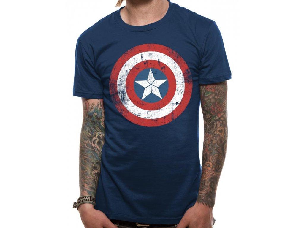 Captain America tričko Shield Distressed - Fleknet 00f57f58b5