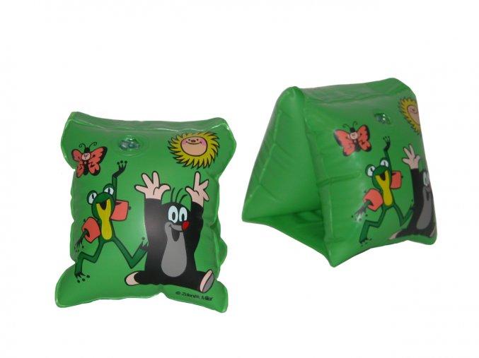 Rukávky Krtek dětské 23x15 cm zelené
