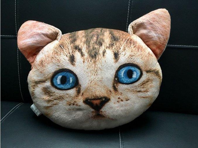 Polštář ve tvaru kočky béžový