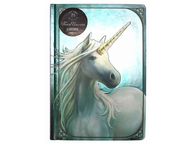 Zápisník A5 Anne Stokers Forest Unicorn