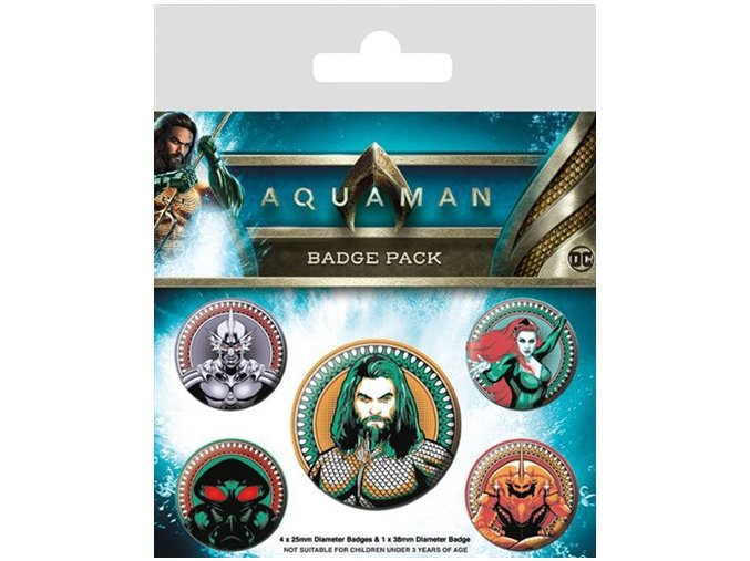 Placky Aquaman set 5 kusů