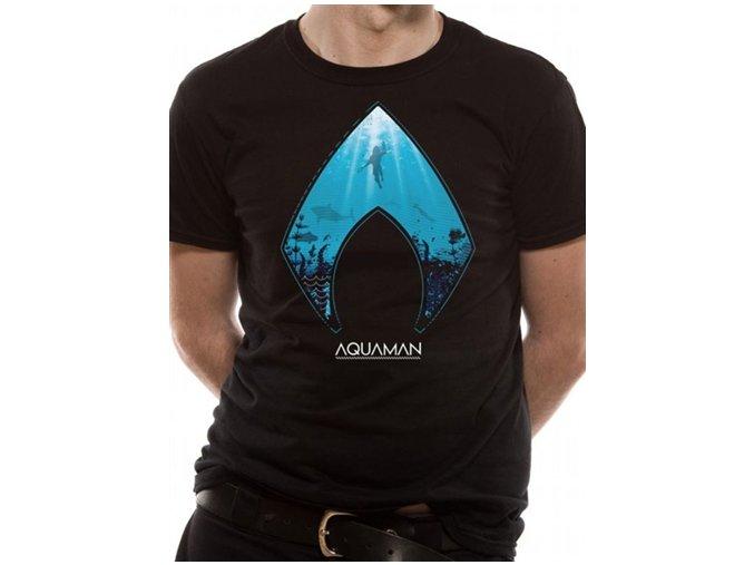 Tričko Aquaman - Logo and Symbol