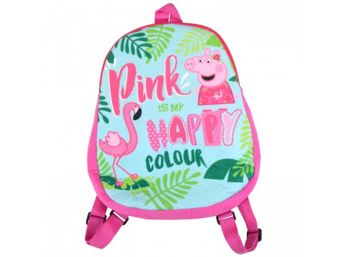 peppa wutz kinder rucksack pink is my happy colour d9b