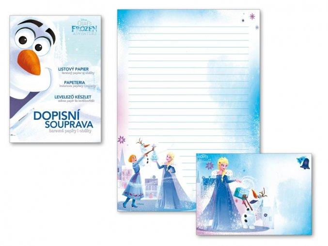 Dopisní papír barevný LUX 5+10 Disney (Frozen)