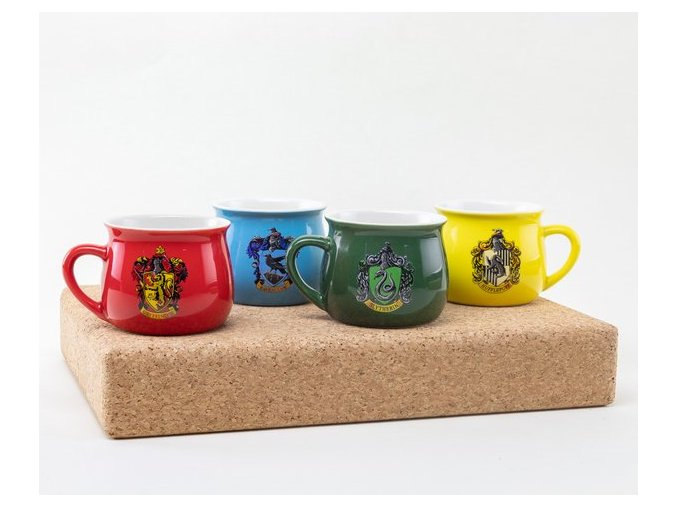 GFB0062 HARRY POTTER house crests small mugs 04