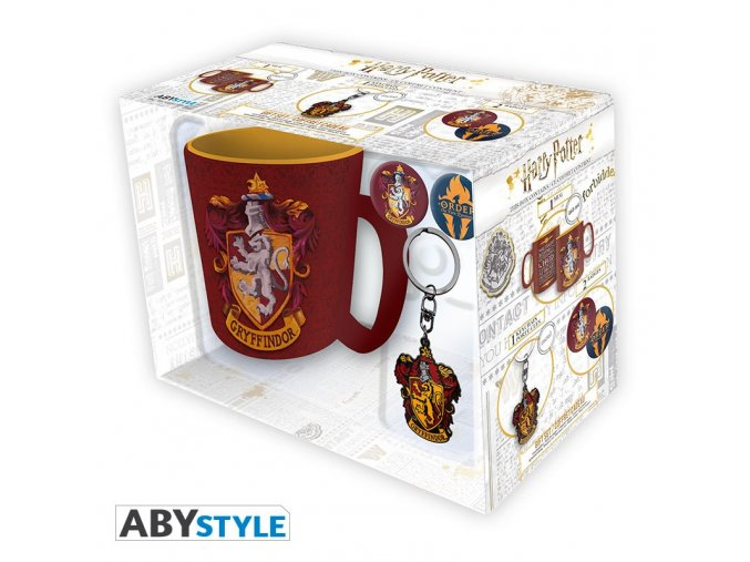 harry potter pck mug keychains badges gryffindor (5)
