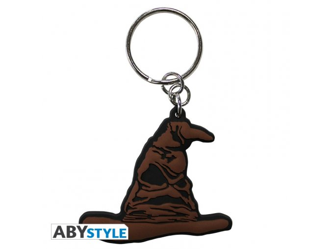 harry potter keychain pvc sorting hat x4