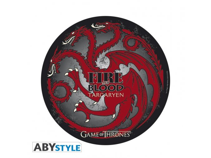 game of thrones mousepad targaryen in shape