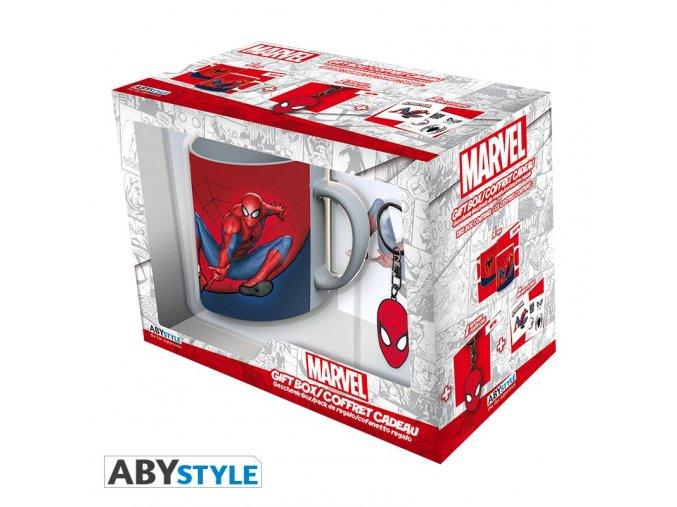 marvel pck mug320ml keyring sticker spider man (5)
