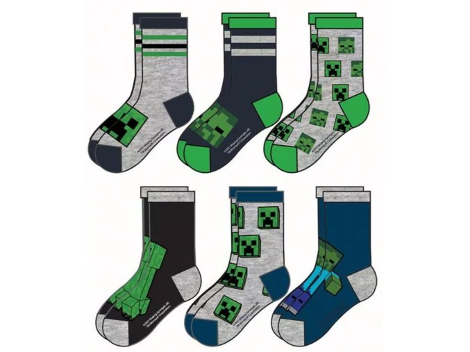 ponožky minecraft