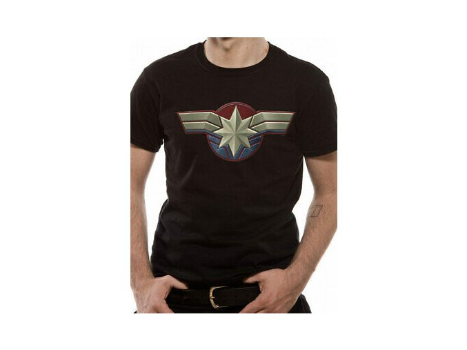 Captain Marvel Chest Emblem Unisex T Shirt