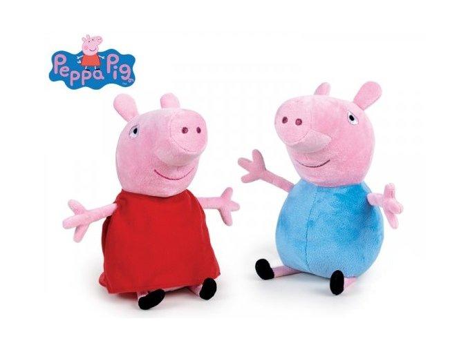Plyšový Peppa Pig/George 26 cm