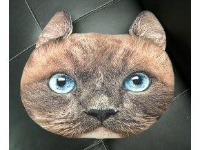 Polštář ve tvaru kočky hnědý