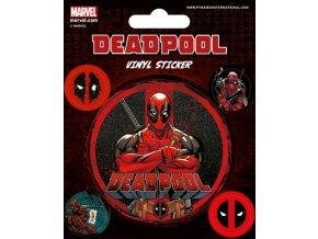 Samolepky 5 kusů Deadpool