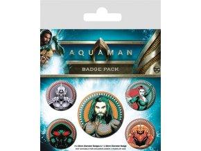 Aquaman placky set 5 kusů
