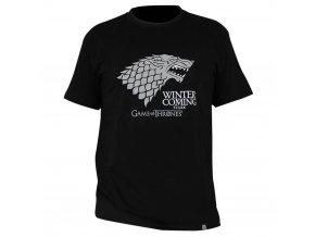 tricko game of thrones winter is coming panske cerne