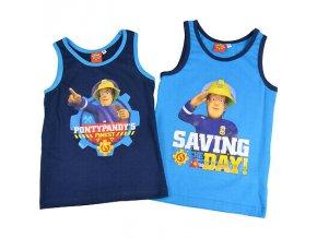 Feuerwehrmann Sam Kinder Jungen Hemdchen 2er Pack blau