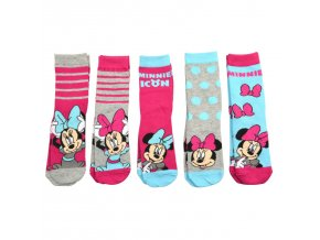 Disney Kinder Mädchen Minnie Mouse Socken 5er Pack (1)