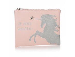 Cestovní taška jednorožec růžová