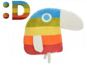 Papoušek Duháček plyšový 20 x 25 cm