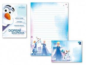 Dopisní papír barevný LUX 5+10 Disney Ledové království Anna a Elza Frozen