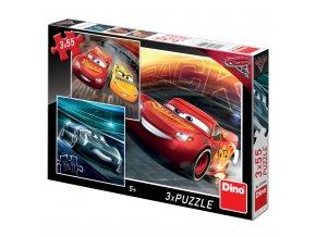 Puzzle Cars Auta 3 Trénink 3x 55 dílků