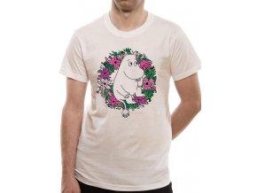 PE19101TSW Moomin Wreath white unisex tee 600x