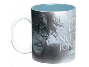 hrnek velky hra o truny game of thrones 460 ml you know nothing jon snow