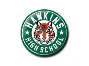 placka stranger things hawkins high school 5f3b4fe977e5e
